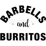 Barbells and Burritos Tshirt - Foodie Fitness Tshirt, Foodie Workout Shirt, Foodie Shirt, Foodie Gift, Gift for Foodie, Fit Foodie Shirt
