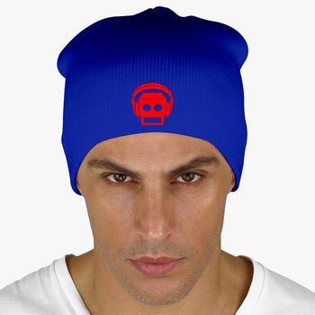 faaeb7d6 LMFAO Beat Rock Robot Knit Beanie (Embroidered) - Hatsline.com