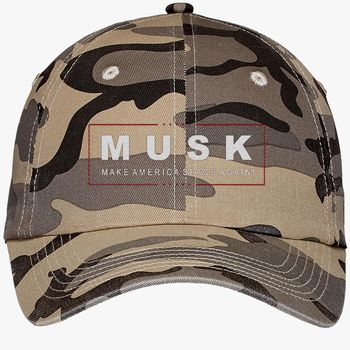 Elon Musk Make America Space Again Camouflage Cotton Twill Cap  (Embroidered) - Hatsline com