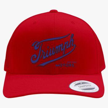 cd06974f86ea8 Triumph Motorcycles 1902 Logo Retro Trucker Hat