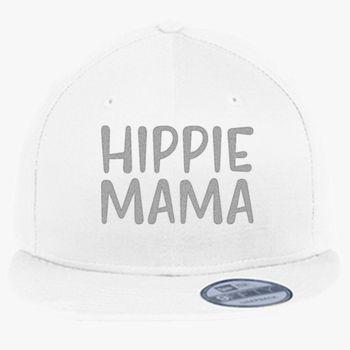 5a2c471be973f Hippie Mama Motherhood Mom Life New Era Snapback Cap (Embroidered ...