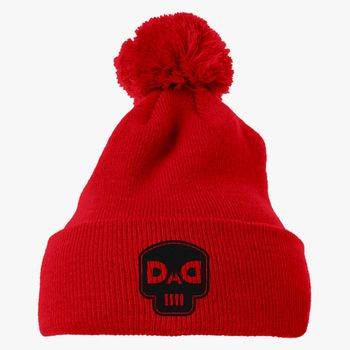 3e97056efc7 dad skull Knit Pom Cap (Embroidered)