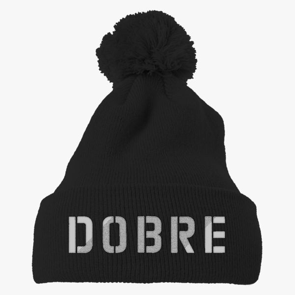 ee7c2072621 Dobre twins white Knit Pom Cap (Embroidered)