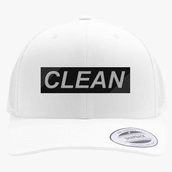 f9de07a2960 Lil Pump Clean Retro Trucker Hat (Embroidered)