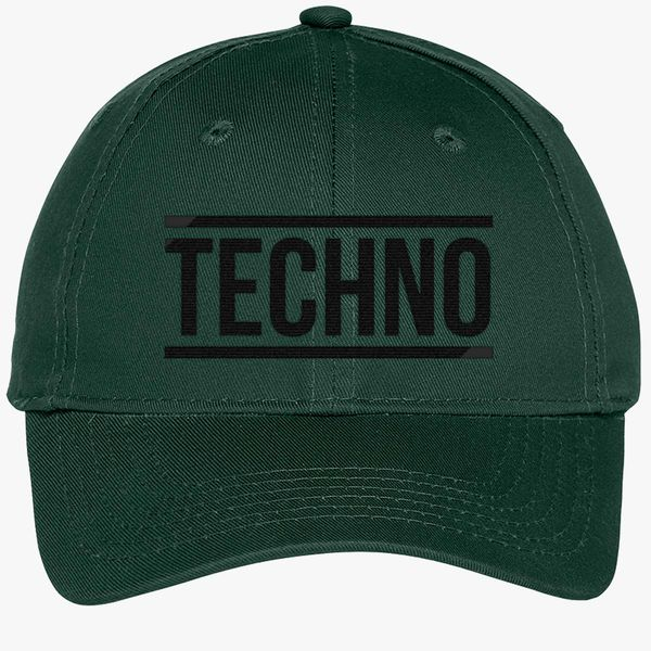 Techno Youth Six-Panel Twill Cap - Embroidery +more ba713742d2a1