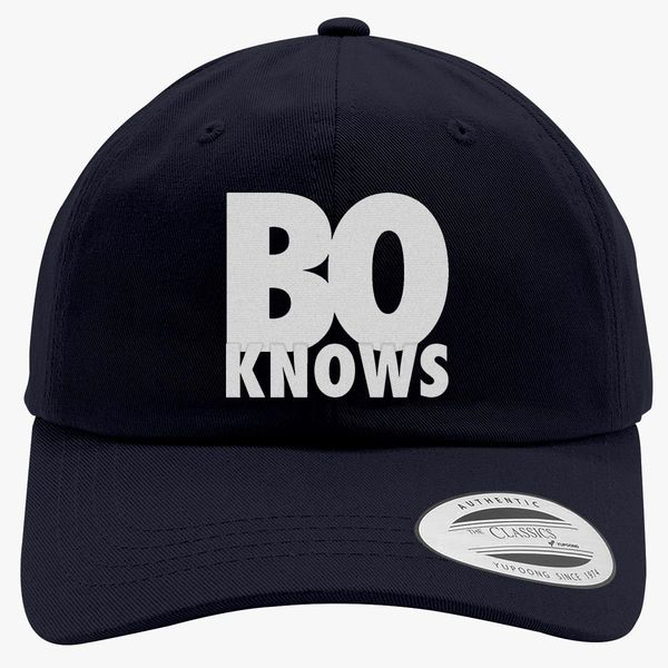 efa5a6c95fb1ad Bo Knows Cotton Twill Hat (Embroidered)   Hatsline.com