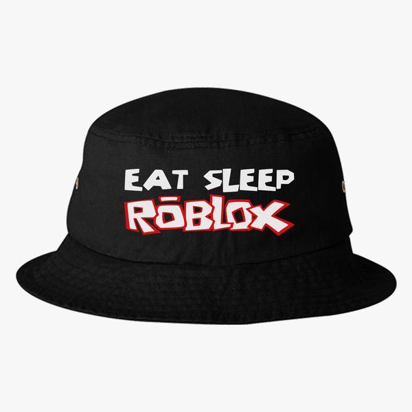Eat Sleep Roblox Bucket Hat Embroidered Hatslinecom
