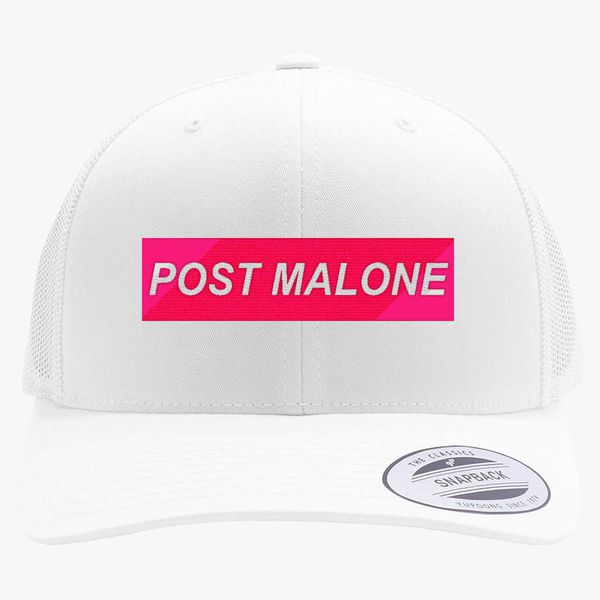 Post Malone Retro Trucker Hat - Embroidery +more 4c58a4b25019