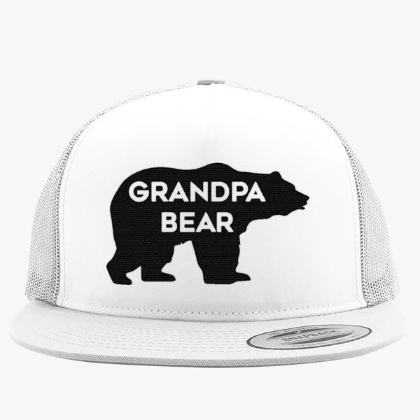 07079a0108d Grandpa Bear Trucker Hat - Embroidery +more
