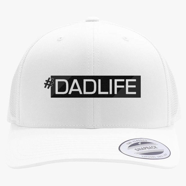 3c05c991c6524 Dad LifeDad Gift  DadLife Fathers Day Husband Retro Trucker Hat -  Embroidery +more