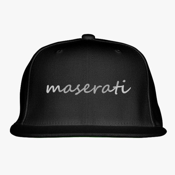Maserati Snapback Hat - Embroidery +more a29cd3880c6e