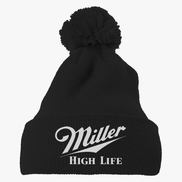Miller High Life Knit Pom Cap - Embroidery Change style c443fc3a069d