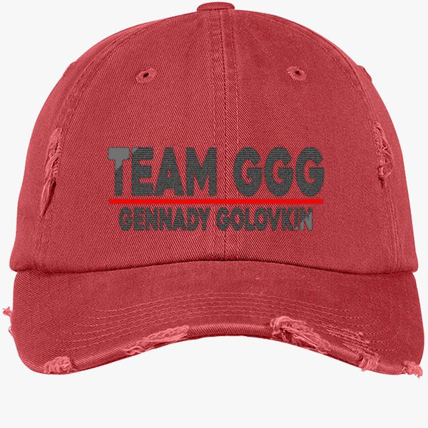 Team GGG Gennady Golovkin Distressed Cotton Twill Cap - Embroidery +more f4ac4dcf9b15