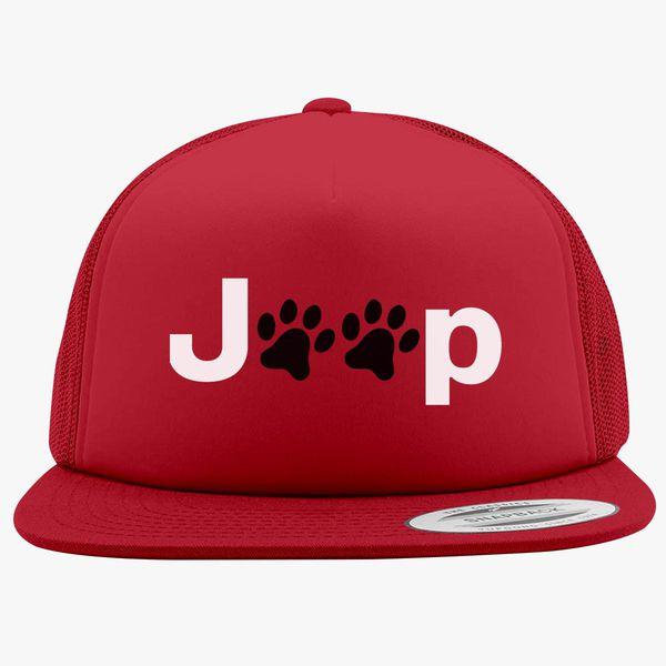 29a35518 Jeep Paws Foam Trucker Hat   Hatsline.com