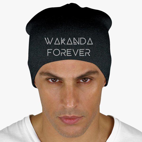 94b1ccf78 Wakanda Forever Knit Beanie (Embroidered) | Hatsline.com