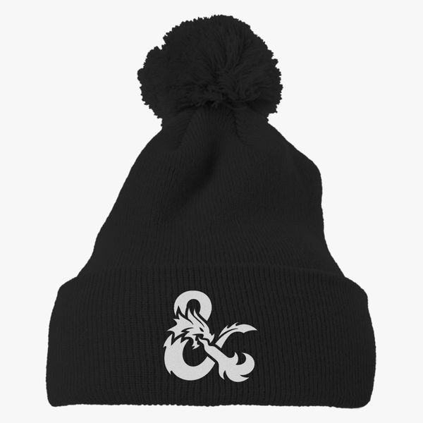 Dungeons and Dragons Logo Knit Pom Cap (Embroidered)  d2303bc18ea