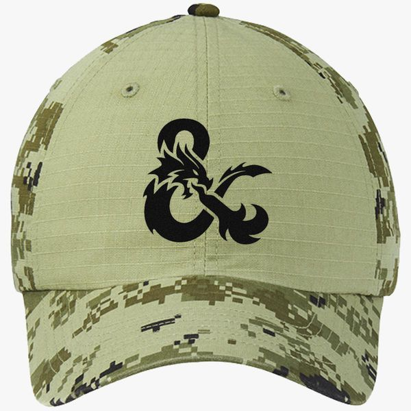 a89a05fab9d Dungeons and Dragons Logo Colorblock Camouflage Cotton Twill Cap  (Embroidered)