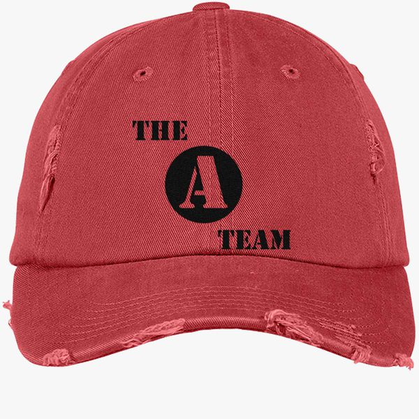 81a804f3cef69d The A Team Distressed Cotton Twill Cap (Embroidered) | Hatsline.com