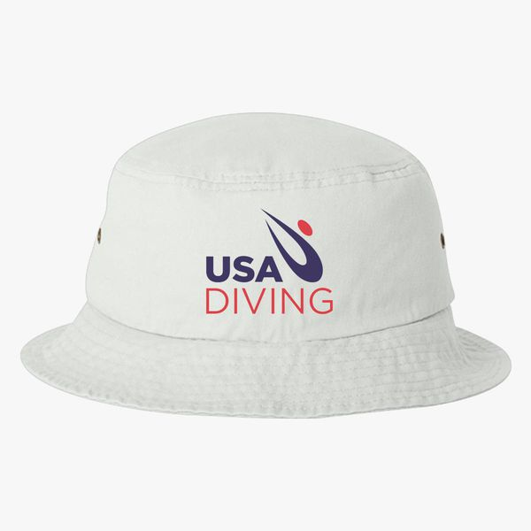 5c259a1b3b1 USA Diving Logo Bucket Hat - Embroidery +more