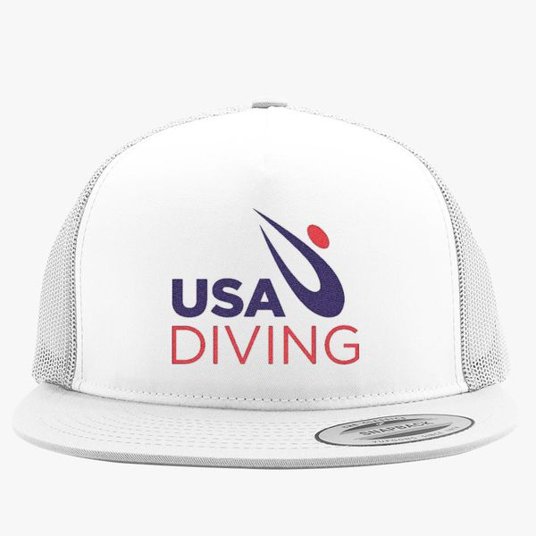 4020a40b USA Diving Logo Trucker Hat (Embroidered) | Hatsline.com