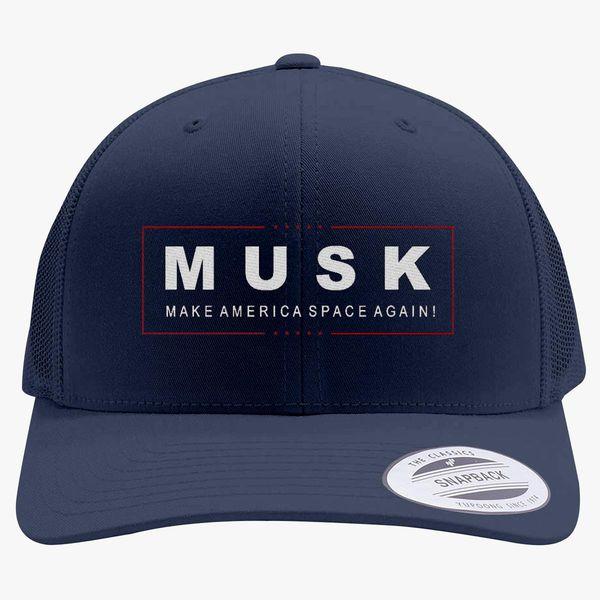 a466ce5cebe Elon Musk Make America Space Again Retro Trucker Hat - Embroidery +more