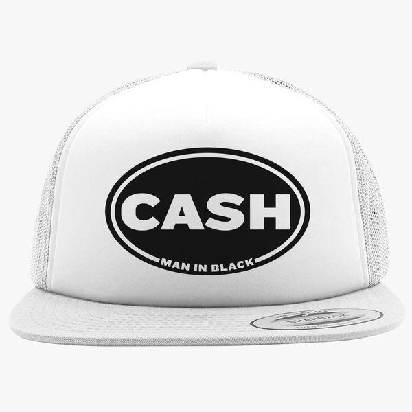 129e4c83a Johnny Cash Man in Black Foam Trucker Hat