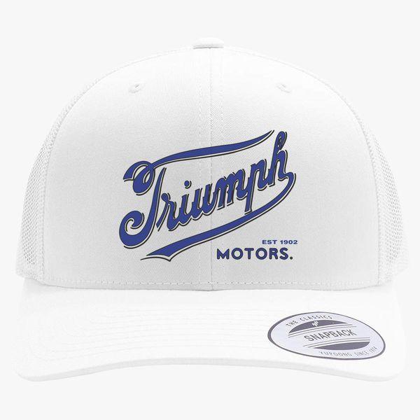 7720d3399b2c2 Triumph Motorcycles 1902 Logo Retro Trucker Hat