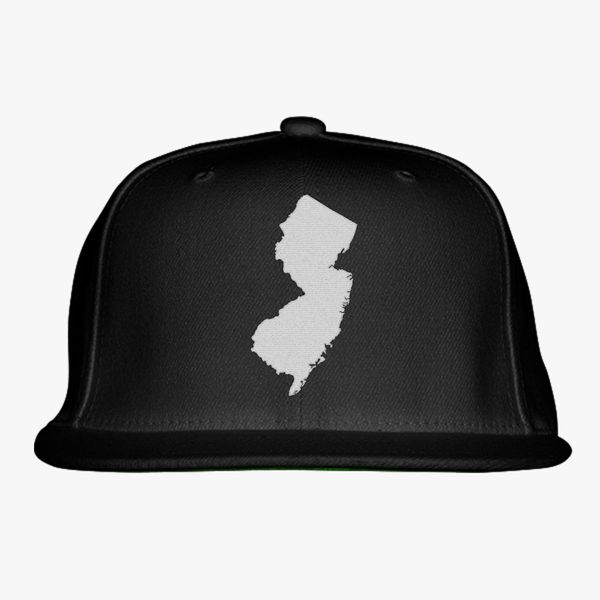 fcf7ce5b6ee NJ Map Snapback Hat - Embroidery +more