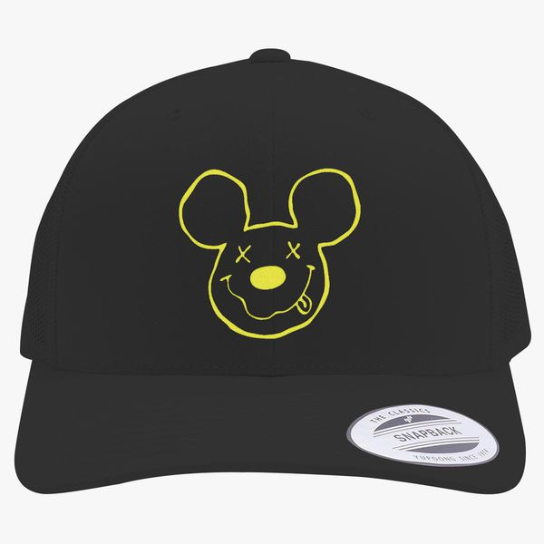 4b4e7270eae nirvana mickey Retro Trucker Hat - Embroidery Change style