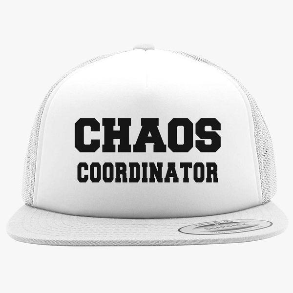 1490beceefc Chaos coordinator Black Foam Trucker Hat   Hatsline.com