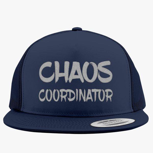 15f61c9d5d1 Chaos coordinator white Trucker Hat (Embroidered)   Hatsline.com