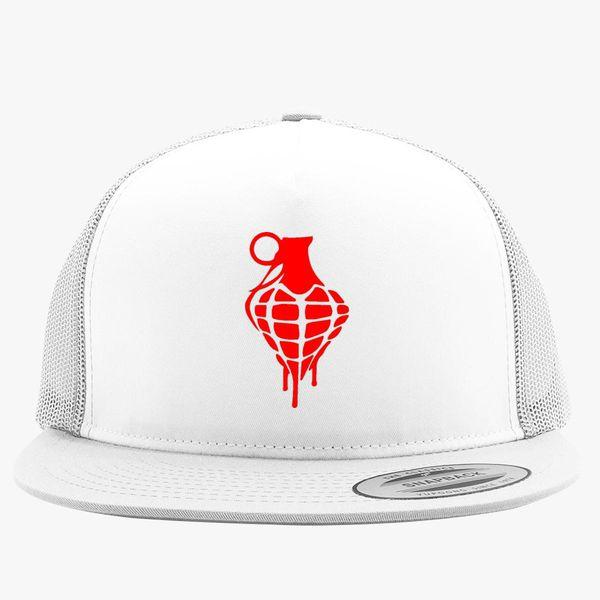 0476b326 Heart Grenade Trucker Hat (Embroidered)   Hatsline.com