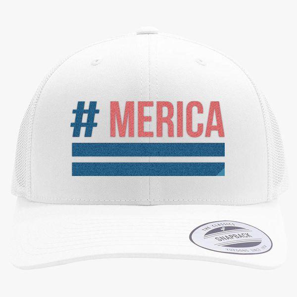 36684eb7f63  Merica Retro Trucker Hat - Embroidery +more