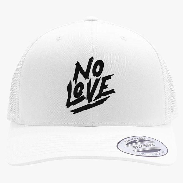 2f366a8040679 No Love Retro Trucker Hat - Embroidery +more