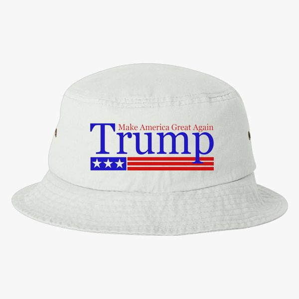 77b33c97a7d16 Trump Make America Great Again Bucket Hat (Embroidered)