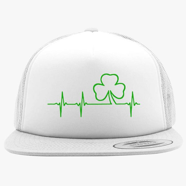 de0aa13ab80 Shamrock Heart Beat Foam Trucker Hat