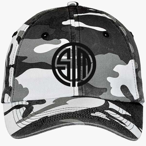 04a74127a3a21 tsm team solomid logo Camouflage Cotton Twill Cap - Embroidery +more