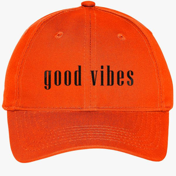 Good Vibes Youth Six Panel Twill Cap Embroidered