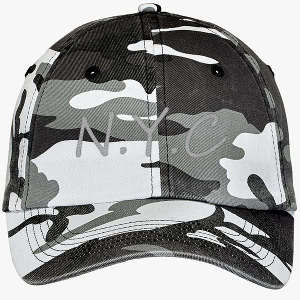 6fa04545368 new york city nyc Camouflage Cotton Twill Cap - Embroidery +more