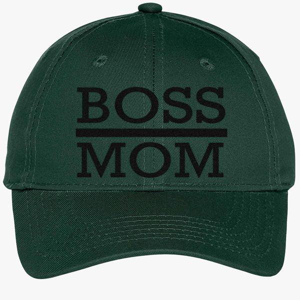 d38a0ab8531a9 boss mom Youth Six-Panel Twill Cap - Embroidery +more