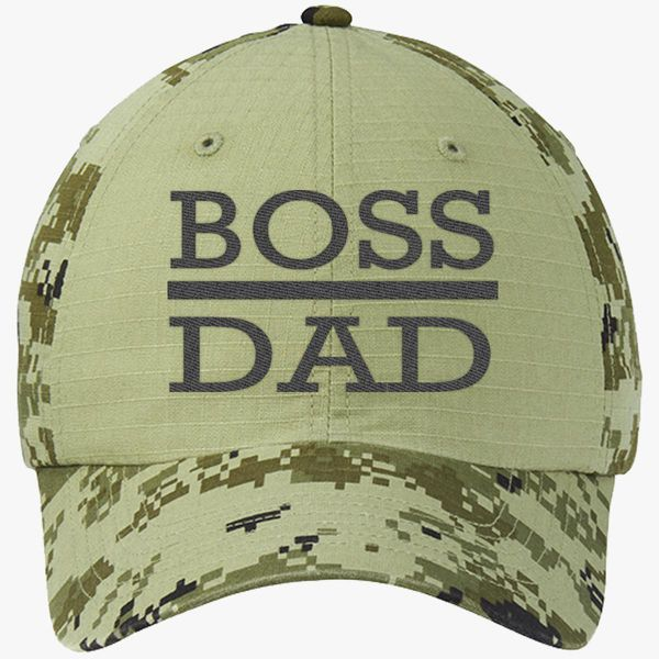 c224148cd7813 boss dad Colorblock Camouflage Cotton Twill Cap - Embroidery +more