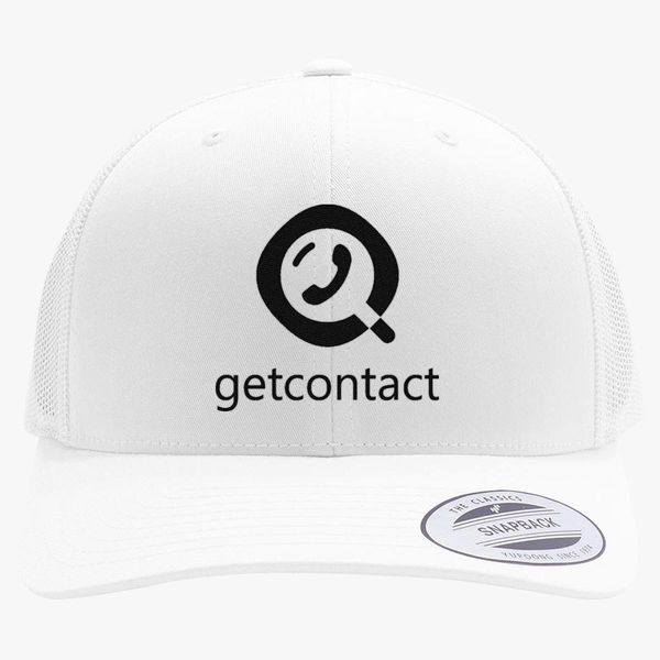 5debf1223b588 getcontact logo Retro Trucker Hat - Embroidery +more