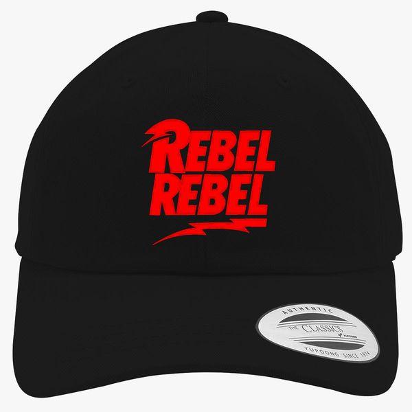 4fcf810eb527ea David Bowie Rebel Rebel Cotton Twill Hat (Embroidered) | Hatsline.com