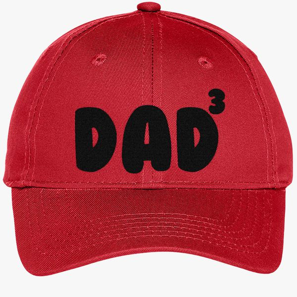 9485389df03 Dad Of 3 Youth Six-Panel Twill Cap - Embroidery +more
