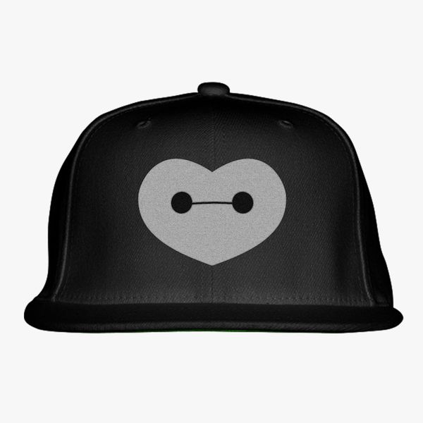 19ac499f176 Big Hero 6 - Baymax Shaped Heart Snapback Hat (Embroidered ...