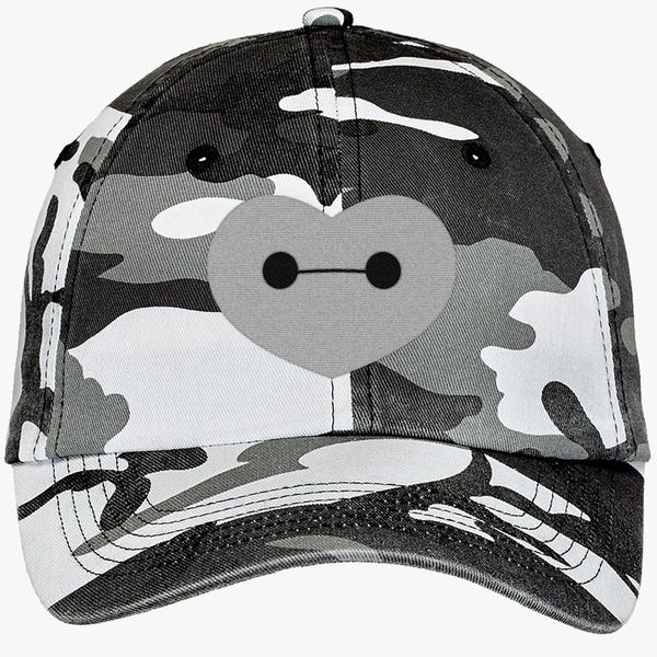 467f0550398 Big Hero 6 - Baymax Shaped Heart Camouflage Cotton Twill Cap (Embroidered)
