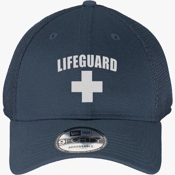 88712d67f5abaa Lifeguard New Era Baseball Mesh Cap (Embroidered)   Hatsline.com