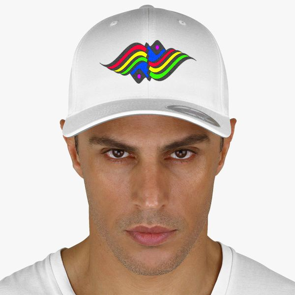 f74a1709354df rainbow waves Baseball Cap - Embroidery +more