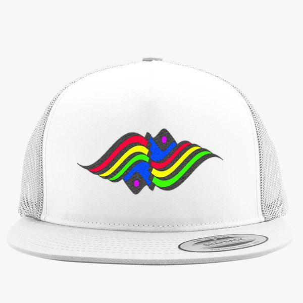 d278c46d14f95 rainbow waves Trucker Hat - Embroidery +more