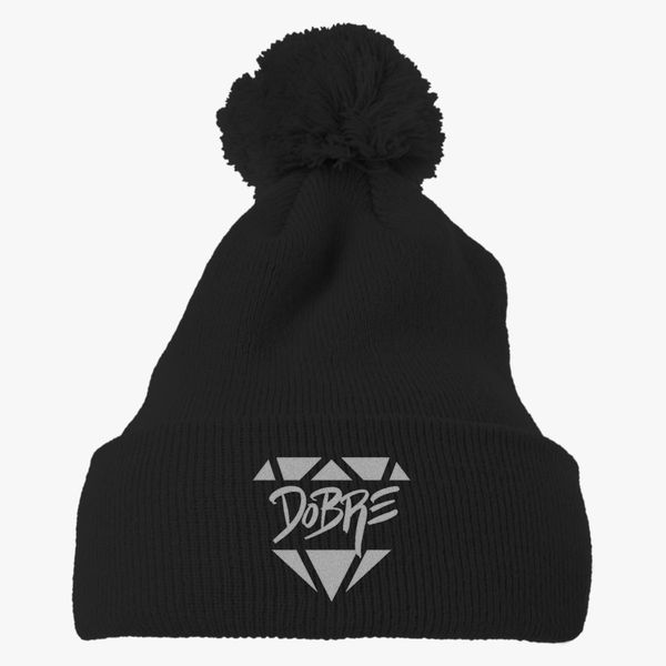 Dobre Brothers Knit Pom Cap Embroidered Hatslinecom